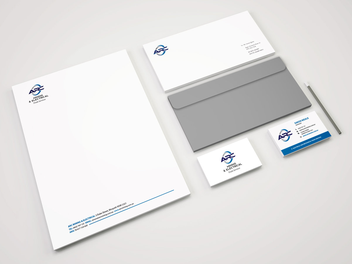 Arc Mining Stationery Mockup